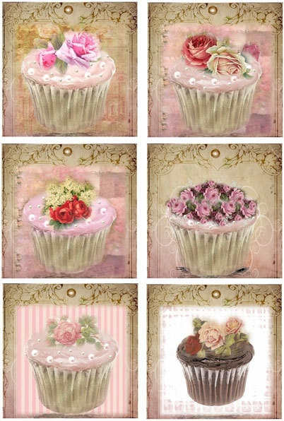 Shabby Chic Cupcake Variety Gift Tag by wildabouttags on Etsy, $4.50