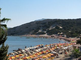 Paradise Beach in Kefalos on the island of Kos in Greece