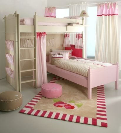 Punkin Patch Interiors - Hand Painted High Sleeper Bed, �2,640.00 (http://www.punkinpatch.co.uk/high-sleeper-bed/)