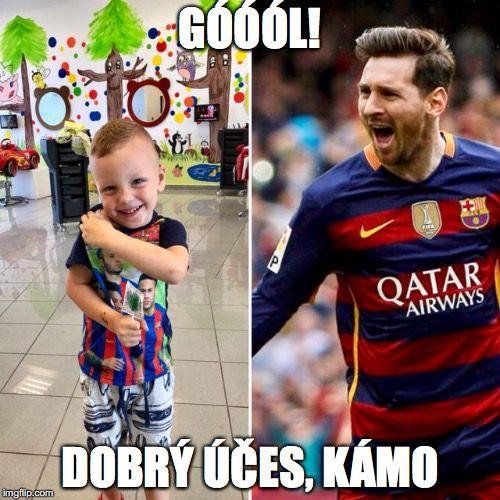 """Nádejnému mladému futbalistovi sme spravili taký účes, že aj Messi len """"hlasno závidí""""...ako sa hovorí, bol to zásah do čierneho. #newstyle #football #player #messi #fan #style #detskekadernictvo #novyucer #bratislava #trnava #slovakia"""