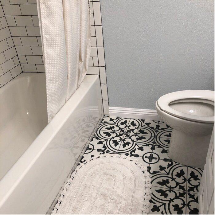 Artea 10 X 10 Porcelain Spanish Wall Floor Tile In 2020 Small Bathroom Remodel Best Bathroom Tiles Tile Bathroom