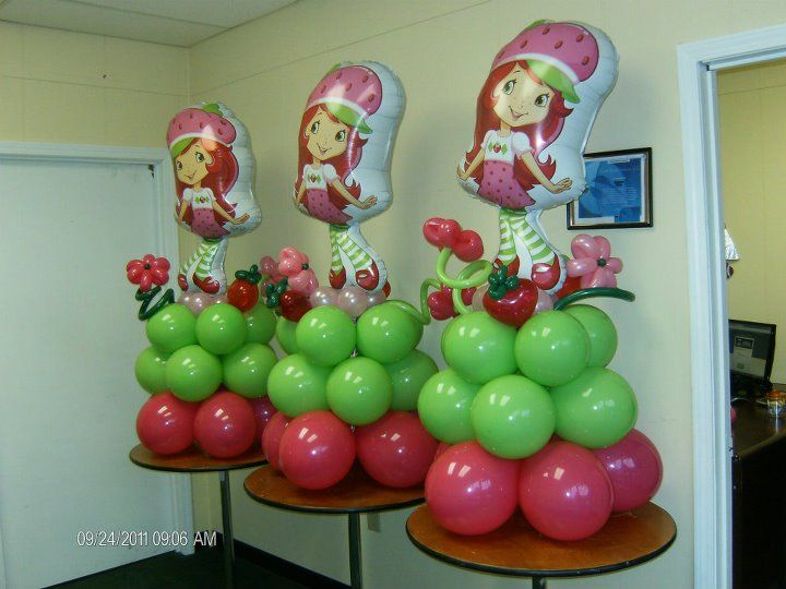 85 best images about strawberry short cake on pinterest for Balloon decoration for kids