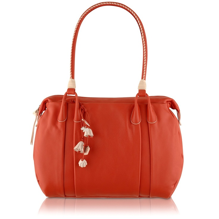 Searching for a red handbag
