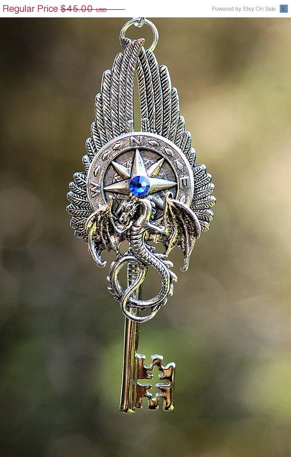 SALE  Dragon's Way Key Necklace by KeypersCove on Etsy, $40.50