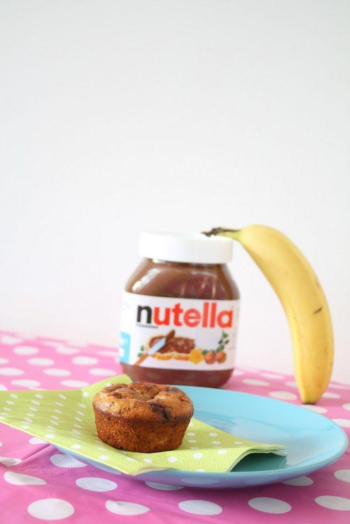 Muffins met Nutella en banaan recept. Super lekker en heerlijk bij de koffie in de ochtend.