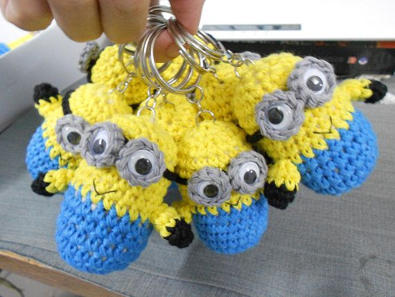 FOB Minion Despicable Me Crochet amigurumi doll toy key by Chieu