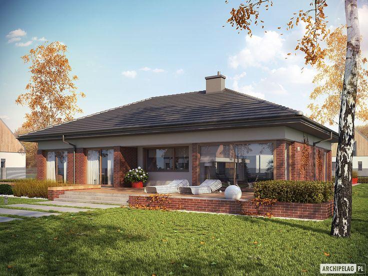 Projekt domu Dominik II G2 (wersja B) - wizualizacja ogrodowa