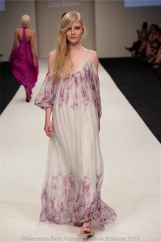 GISELLE Long Wisteria Dress @byLisaBrown