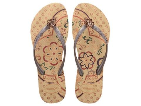 Check these flip flops that are just good for any occasions! Havaianas Slim Thematic Beige Flip Flop @flopstore.com https://www.flopstore.com/com_english/havaianas-slim-thematic-beige-flip-flop.html