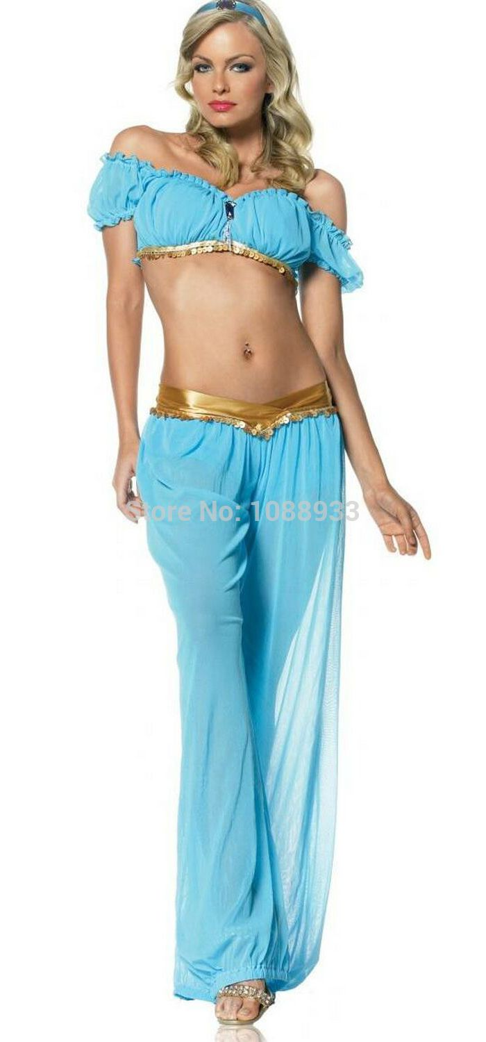 princess jasmine costumes for women adult Aladdin's Princess Jasmine cosplay party halloween costumes for women wholesale-in Clothing from Novelty & Special Use on Aliexpress.com | Alibaba Group
