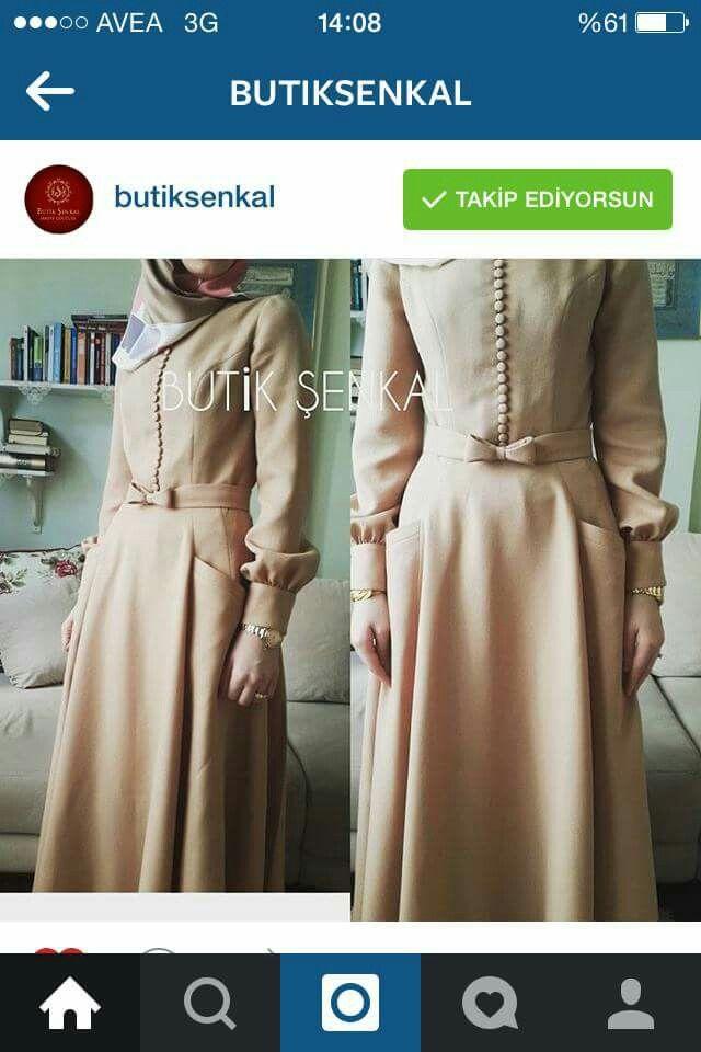 Süper elbise. Sade ve şık. Minimal şıklık. Butik şenkal... tesettür. Hijab.