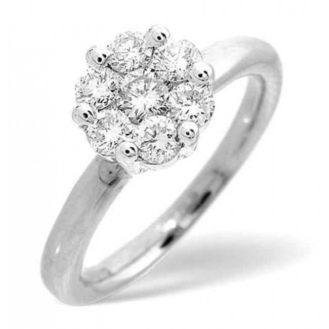 Round Diamond 7 Stone Ring Cer Home 0 27ct