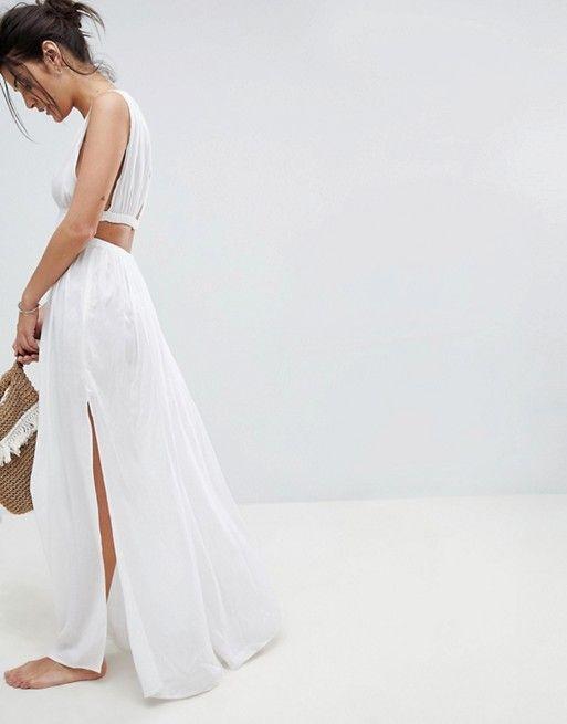 25c94a6c8c DESIGN Grecian Plunge Maxi Woven Beach Dress | my perfect wear ...