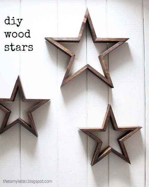 DIY Etoiles en bois par Thats my letter Plus de DIY sur le site!