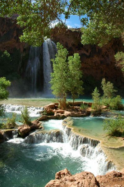 Mooney Falls in Havasu canyon....a tropical oasis in the middle of the desert and a trip of a lifetime