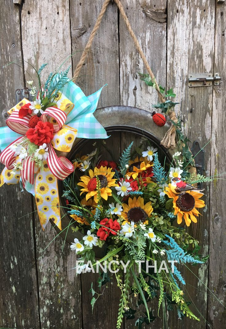 327 best wreath images on pinterest grapevine wreath front
