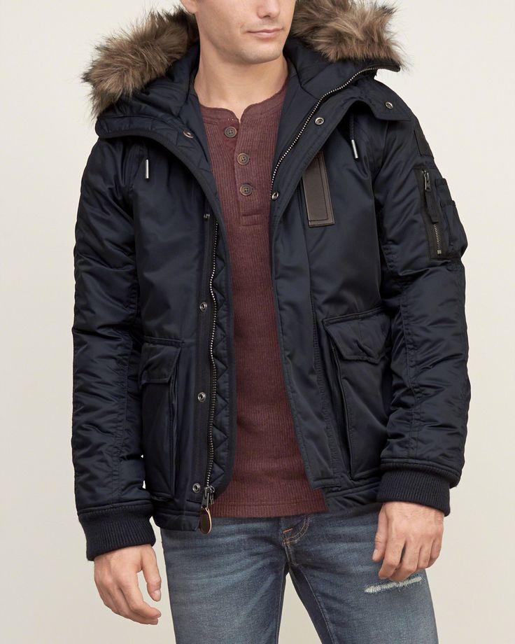 Mens Premium Military Parka | Mens Outerwear & Jackets | Abercrombie.com