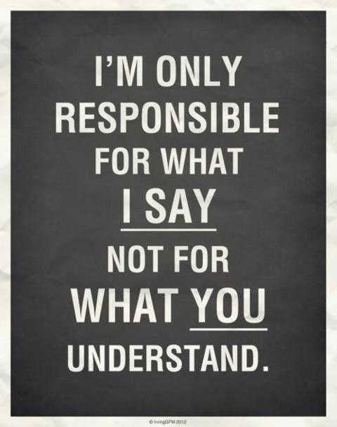 I'm only responsible for what I say, not for what you understand #quote #EAv #FlowConnection