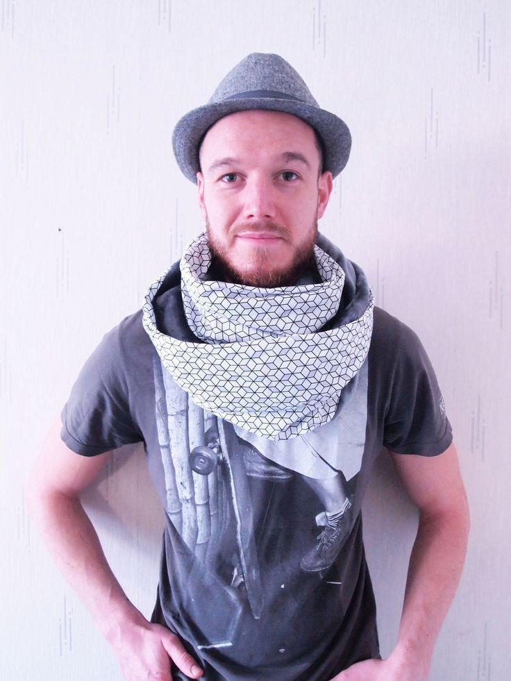Col Snood XXL homme/femme transformable en capuche : Echarpe, foulard, cravate par la-fee-curiosites