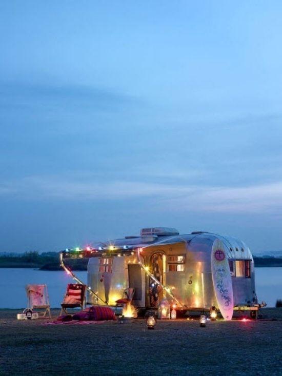 checkliste camping wohnwagen lichten dekoration