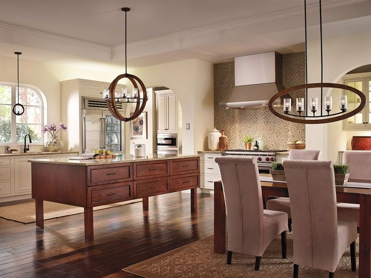 Wood fixtures to finish your kitchen design see the entire collection at https · dining room lightingkitchen