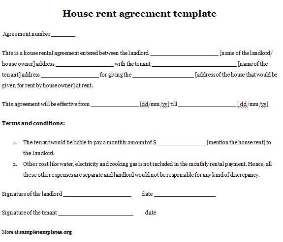 Printable Sample Simple Room Rental Agreement Form                                                                                                                            More