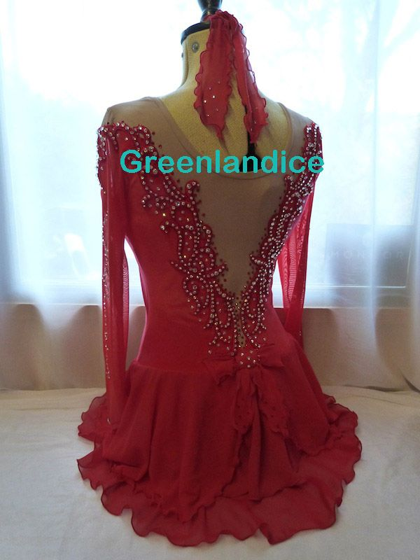 Melissa design ice skating dress in scarlet from www.greenlandice.co.uk