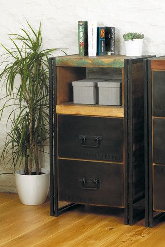 Beautiful Reclaimed Urban Chic Two Drawer Chest - Shop Now. – Chattels