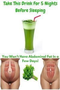 Take This Drink For 5 Nights Before Sleeping and You Won't Have Abdominal Fat In a Few Days!