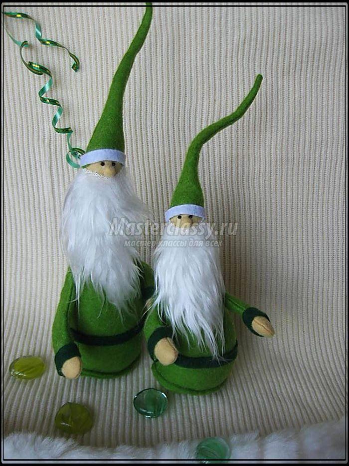 Елочные украшения к Новому Году «зеленые гномики». Мастер класс с пошаговыми фото