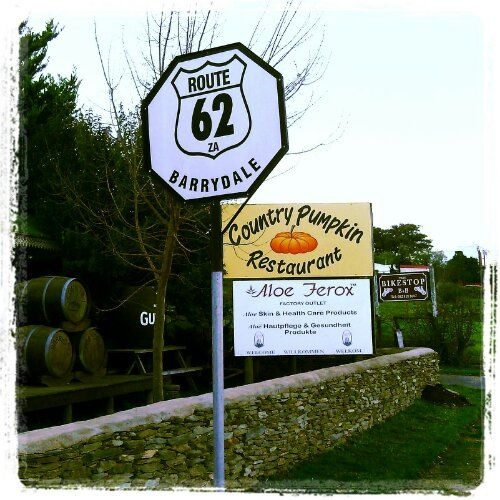 Route 62 - Country Pumpkin Restaurant in Barrydale