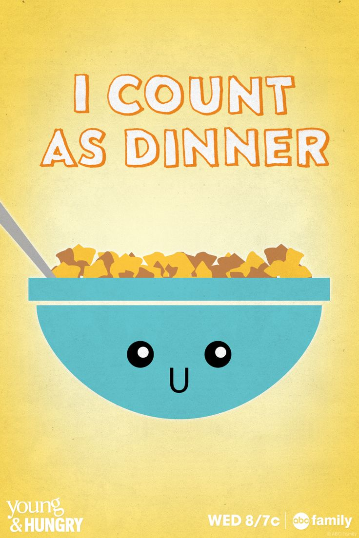 If food could talk, it would say... cereal makes for a great dinner! It makes for a great meal any time of day!
