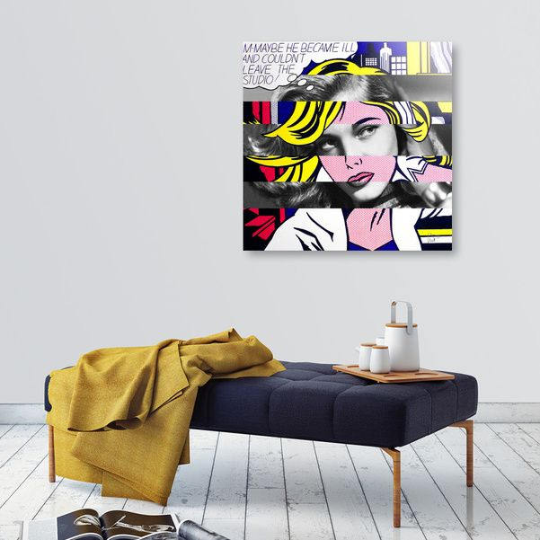 Discover «Roy Lichtenstein's M-Maybe & Lauren Bacall», Exclusive Edition Aluminum Print by Luigi Tarini - From $75 - Curioos