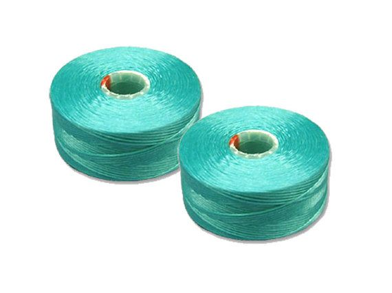 C-LON Turquoise Blue Size AA Nylon Monocord by TorallyBeads
