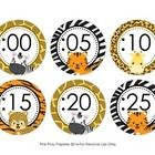 These sweet jungle safari theme clock numbers are great to help your students tell time. They match the other jungle safari theme items I have in m...