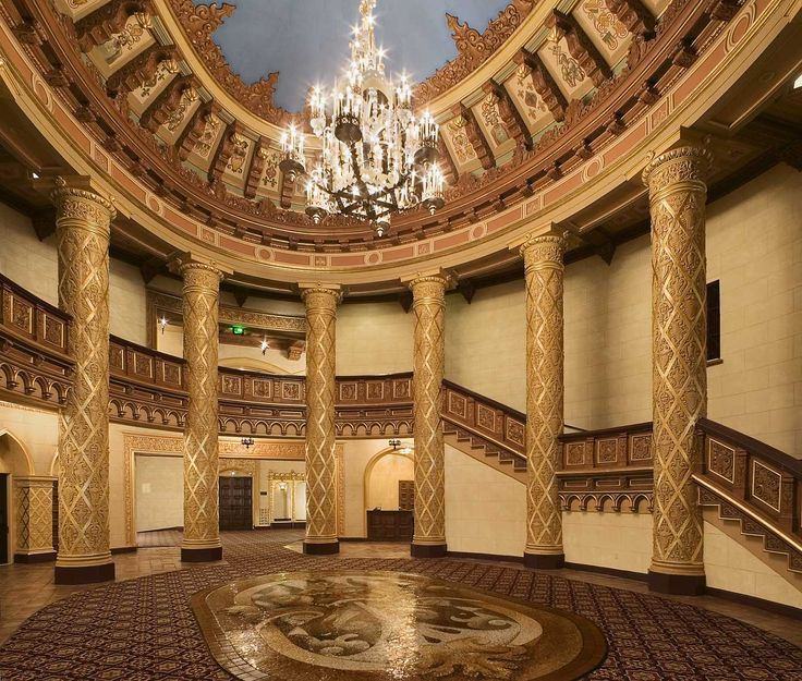 Lobby of the Bob Hope (Fox) Theatre in Downtown Stockton, California - www.CelebrateStockton.com