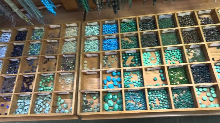 Semi-precious beads at Beadworks Bead Shop, Covent Garden, London (+play...