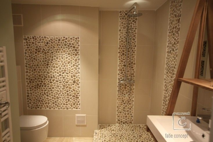 17 best images about frise en galets salle de bain on - Decoration salle de bain galet ...