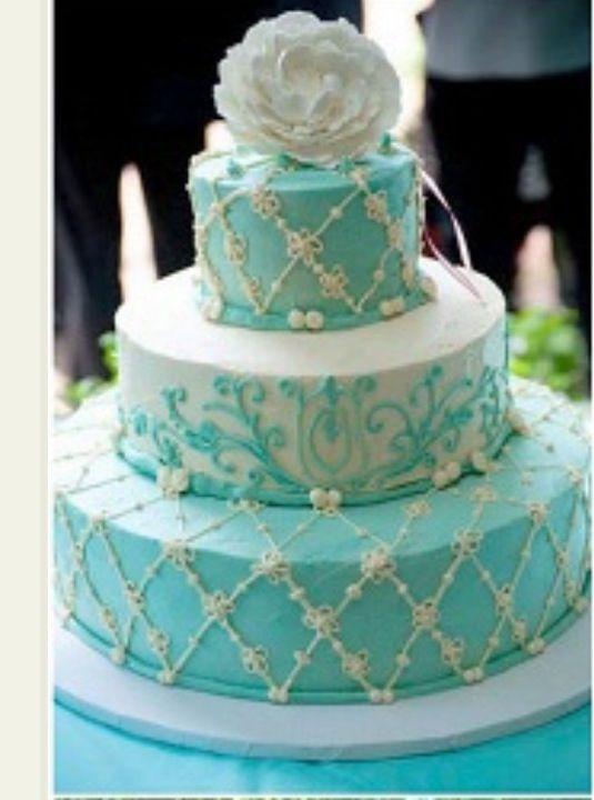 beautiful tiffany blue wedding cake tiffany co a girl can. Black Bedroom Furniture Sets. Home Design Ideas