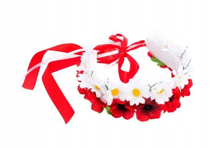 Wianek Kibica Z Kwiatkow Narodowy Bialo Czerwony 7313182988 Oficjalne Archiwum Allegro