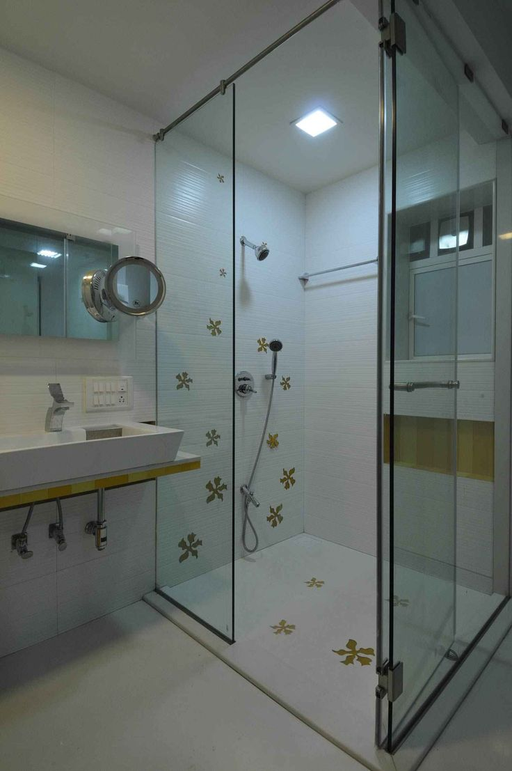 Bathroom With Shower Enclosure Design By Sonali Shah Architect In Mumbai India Best Bathroom