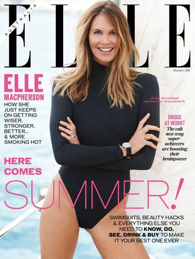 Эль Макферсон (Elle Macpherson) в ELLE Australia