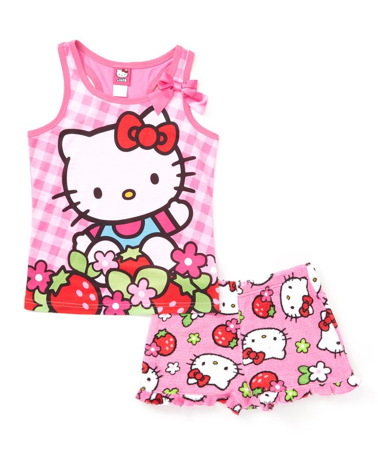 Look what I found on #zulily! Hot Pink Hello Kitty Pajama Set - Girls by Hello Kitty #zulilyfinds