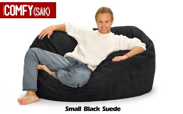 Small Black Suede Comfysak