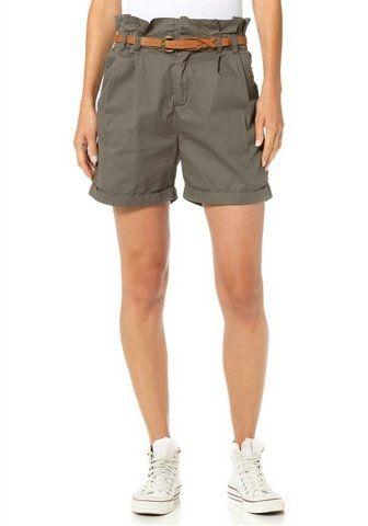 BLEND Damenshorts Bermudas Shorts Damen Olive mit Gürtel Größe 36 NEU OVP