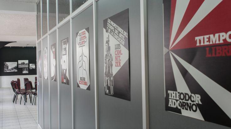Oswaldo Terreros Herrera. Tributo a pensadores que han aportado a la reflexión sobre el tiempo libre. Ilustraciones de Gerd Arntz y Oswaldo Terreros Herrera. 7 carteles de 62.7 x 48 cm, 2016.