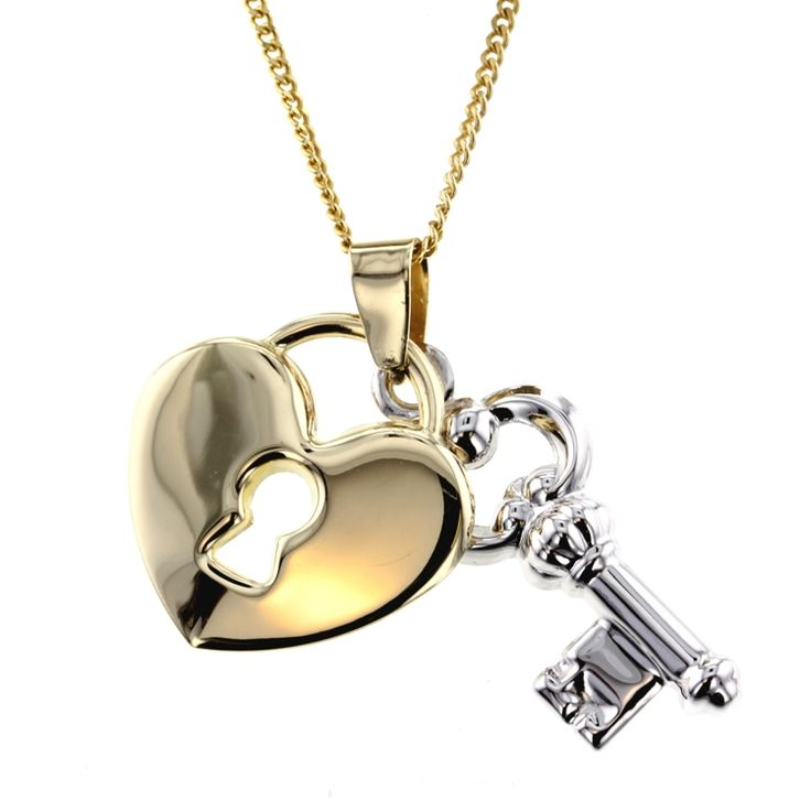 Buy Heart and Key Pendant (PND-006) online at Chain Me Up