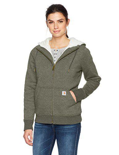 760b57c1cf157 New Carhartt Women's Clarksburg Sherpa Lined Hoodie. Women Fashion  Sweatshirt [$59.99 - 134.99]