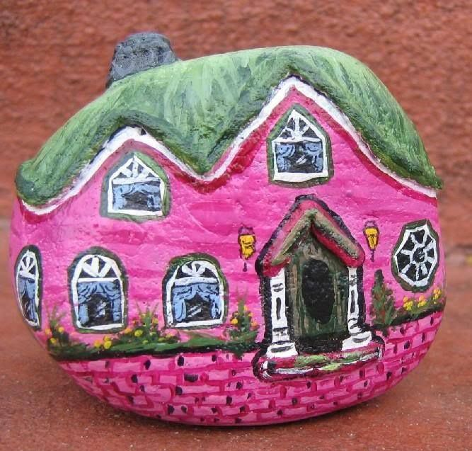 986 Best Elf Houses Images On Pinterest Painted Stones Rock