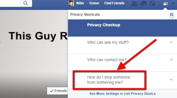 how to see someones facebook while blocked